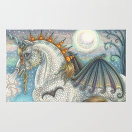 SPELLBOUND - Gothic Halloween Unicorn Rug