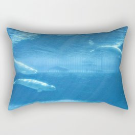 Ocean Blue Beluga Pairs Version 2 Rectangular Pillow