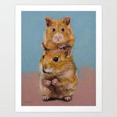 Hamsters Art Print