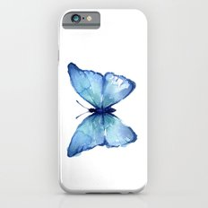 Blue Butterfly Watercolor iPhone 6s Slim Case