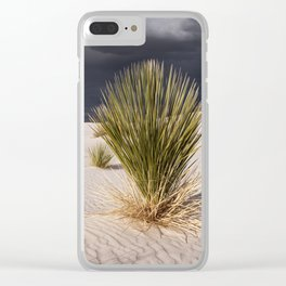 Yucca in White Sands National Monument Clear iPhone Case