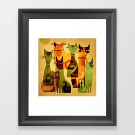 CAT HERD Framed Art Print