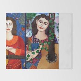 Violeta Parra collage Throw Blanket