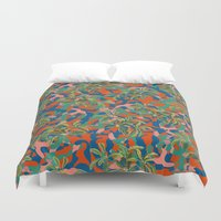 camouflage Duvet Covers featuring CAMOUFLAGE by DIVIDUS