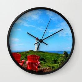 Louisbourg Lighthouse Wall Clock