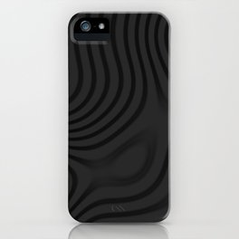 Organic Abstract 01 BLACK iPhone Case