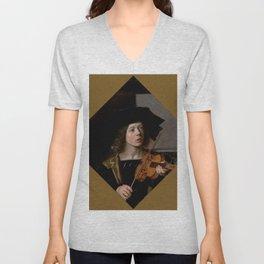 """Frans Hals """"The violinist"""" Unisex V-Neck"""