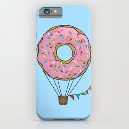 Donut Hot Air Balloon iPhone Case