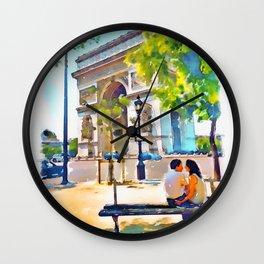The Arc de Triomphe Paris Wall Clock