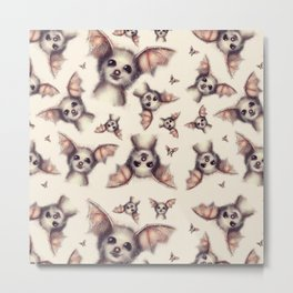 What the Fox - Pattern Metal Print