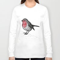 robin Long Sleeve T-shirts featuring Robin by Jack Kershaw