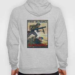 US Marines -- First In France Hoody