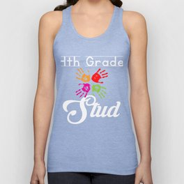 4th Grade Stud Funny First Day School graphic Unisex Tank Top