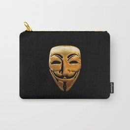 Anonymous Mask Gold Carry-All Pouch