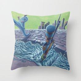POEM OF FLOOD Throw Pillow