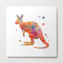 Colorful Kangaroo Metal Print
