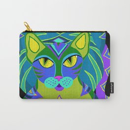 Peacock Tabby Noire Carry-All Pouch