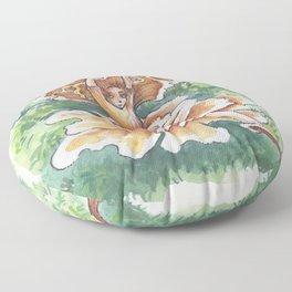 Empire of Mushrooms: Cantharellus cibarius Floor Pillow