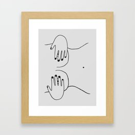peek-a-boob Framed Art Print