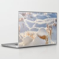 notebook Laptop & iPad Skins featuring And finally Winter, with its bitin', whinin' wind, and all the land will be mantled with snow. by UtArt