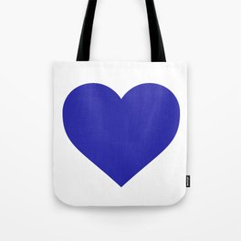 Heart (Navy Blue & White) Tote Bag