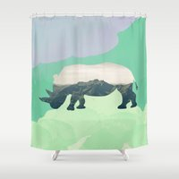 soul Shower Curtains featuring Soul by 83 Oranges®