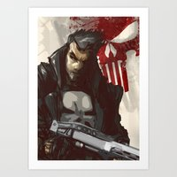 punisher Art Prints featuring Punisher by Shane Cook