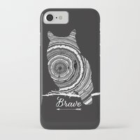 brave iPhone & iPod Cases featuring brave by Vickn