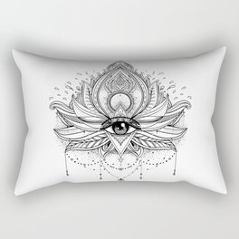 Lotus flower + All seeing eye. Rectangular Pillow