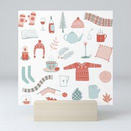 Hygge Cosy Things Mini Art Print