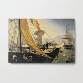 Classical Masterpiece Episode de l'expédition du Mexique en 1838 by Horace Vernet Metal Print