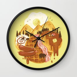 Breakfastscape Wall Clock