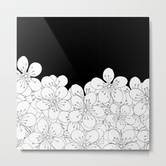 Cherry Blossom Boarder Metal Print
