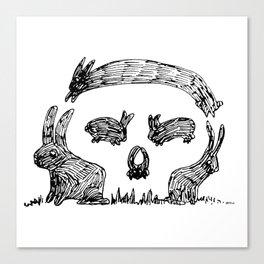 Bunny Skull Canvas Print