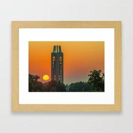 KU Campanile Bell Tower Sunrise - Lawrence Kansas Framed Art Print
