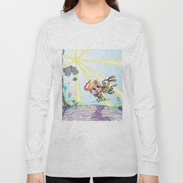 Laughing Along the Path - One Boy and a Toy Long Sleeve T-shirt