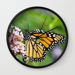 Colorful Monarch Butterfly Wall Clock