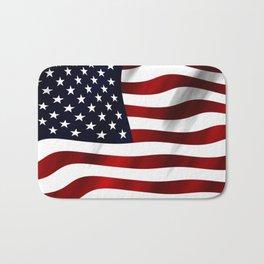 American Flag USA Bath Mat