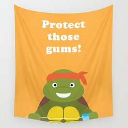 Protect those Gums! Wall Tapestry
