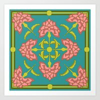 flora Art Prints featuring Flora by nandita singh