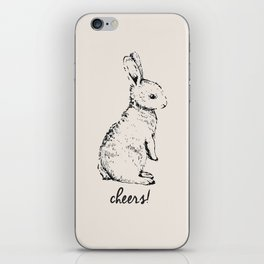 cheers little bunny iPhone Skin