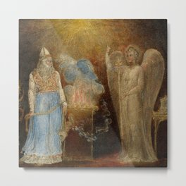 """William Blake """"The Angel Appearing to Zacharias"""" Metal Print"""