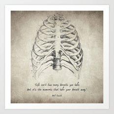 Breathe Quote Art Print