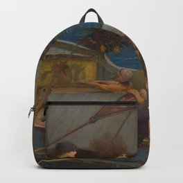 Ulysses and the Sirens by John William Waterhouse Backpack