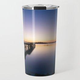 Sunset at Montevideo bay Travel Mug