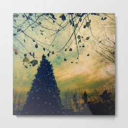 Christmas Tree at Dusk Metal Print