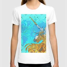 Ancient Magic World Map Wall Art T-shirt