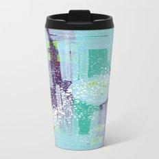 Teal Background Travel Mug