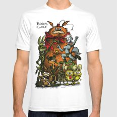 Balsley's Comix (poster) Mens Fitted Tee White MEDIUM