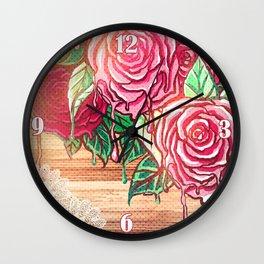 melting rose *flowersCollection* Wall Clock